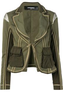 Dsquared2 Blazer Com Bolso - Verde
