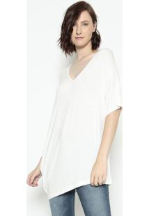 Blusa Assimétrica- Off White- Forumforum