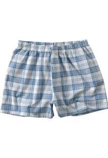 Short Azul Xadrez Masculino