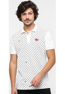 Camisa Polo Rg 518 Piquet Full Print Bordado Masculina - Masculino