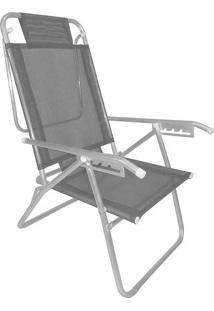 Cadeira Reclinavel Zaka Aluminio 5 Posições Infinita