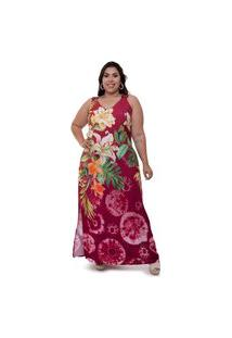 Vestido Plus Size Paty Vinho