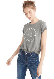Camiseta Abercrombie Clássica Cinza
