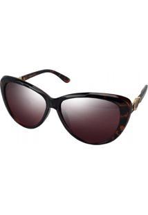 Óculos De Sol Tilit Feminino Acetato Gateado - Tartaruga