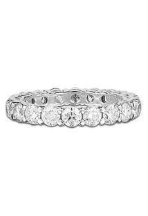 Aliança Absoluta Ouro Branco E 189 Pontos De Diamantes