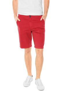 Bermuda Sarja Malwee Slim Vermelha