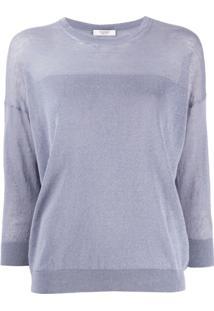 Peserico Suéter Com Mangas 3/4 - Azul