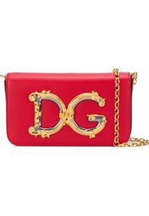 Dolce & Gabbana Bolsa Transversal Com Logo Dg - Vermelho