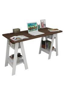 Mesa Escrivaninha Self Nogueira E Branco Appunto