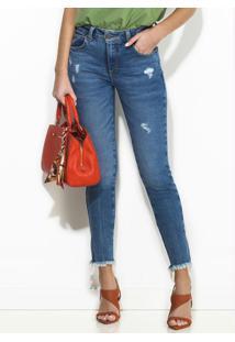 Calça Jeans Cigarrete Azul