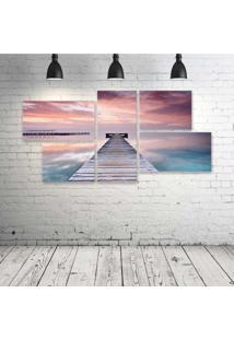 Quadro Decorativo - Spain-Pink-Sky - Composto De 5 Quadros - Multicolorido - Dafiti