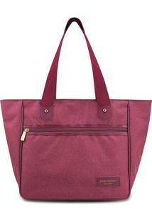 Bolsa Shopper Com Recortes- Bordã´- 28,5X30X15Cm-Jacki Design