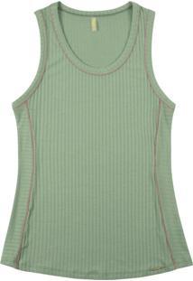 Blusa Sem Manga Em Tecido Canelado Verde