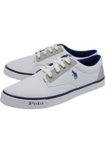 Tênis Polo Hpc Bordado Branco