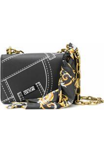 Versace Jeans Couture Bolsa Tote Com Detalhe De Lenço - Preto