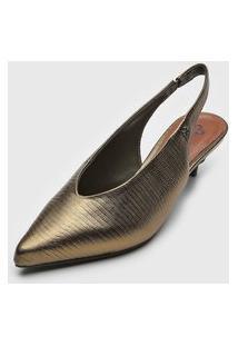 Scarpin Capodarte Metalizado Dourada