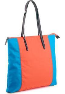 Bolsa Manly Colors Feminina - Feminino-Azul