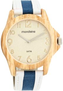 Relógio Mondaine 99119L0Mvnw1 Marrom / Branco