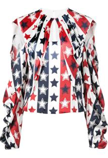 Hellessy Blusa Com Estampa De Listras E Estrelas - Branco