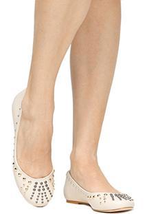 Sapatilha Couro Shoestock Tachas Feminina - Feminino