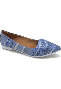 Sapatilha Violanta Varsovia Jeans Feminina - Feminino-Azul