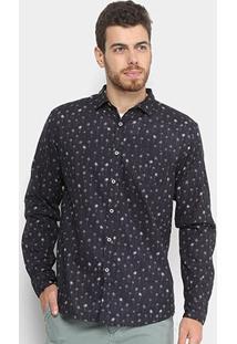 Camisa Foxton Manga Longa Estampada Masculina - Masculino