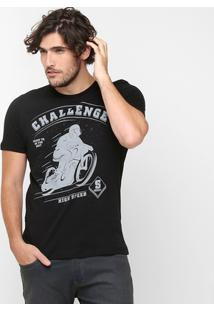 Camiseta Sommer Estampa Challenge - Masculino-Preto