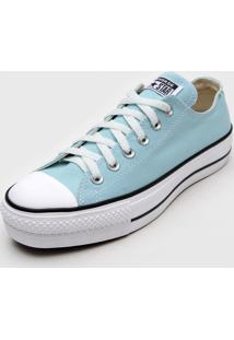 Tênis Flatform Converse Chuck Taylor All Star Lift Seasonal Azul - Kanui