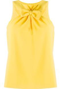 Boutique Moschino Blusa Com Laço Frontal - Amarelo