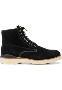 Visvim Virgil Suede Ankle Boots - Preto