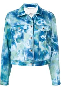 3.1 Phillip Lim Jaqueta Jeans Tie Dye - Azul