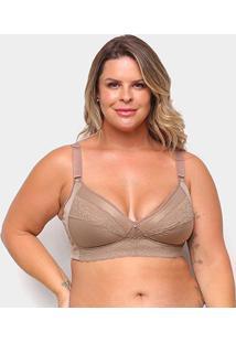 Sutiã Dilady Plus Size Anatômico - Feminino-Marrom Claro
