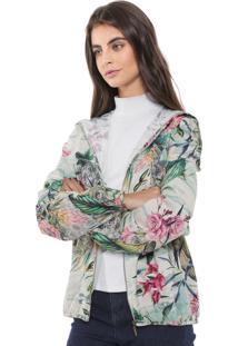 Jaqueta Triton Floral Bege