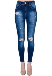 3be6bdec4 ... Calça Jeans Skinny Destroyed Extreme Power Bia Colcci - Calça Jeans  Skinny Destroyed Extreme Power Colcci