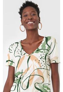 Camiseta Sacada Orgânica Off-White/Verde