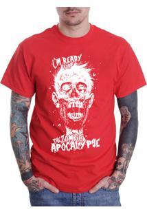 Camiseta Hypnotic Zombie Apocalypse Vermelho