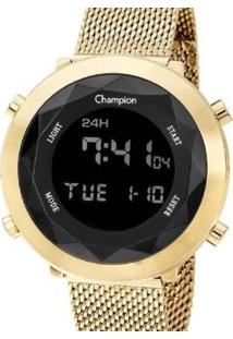 Relógio Champion Digital Ch48028U Feminino - Feminino-Dourado