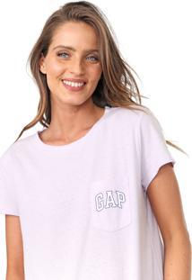 Blusa Gap Logo Bolso Lilás - Kanui