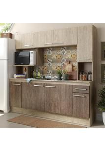 Cozinha Compacta 08 Portas 01 Gaveta Acácia/Freijó Cn630 - Decibal Móveis