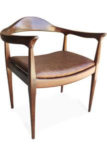Cadeira The Chair Couro Legitimo Madeira Maciça Design By Hans Wegner