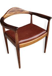 Cadeira The Chair Couro Legitimo Peça Designer Hans Wegner
