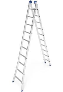 Escada De Alumínio Mor Extensiva, 20 Degraus - 5206