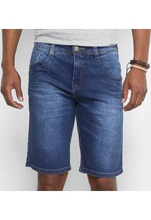 Bermuda Jeans Biotipo Estonada Masculina - Masculino-Azul