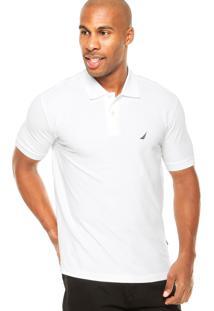 Camisa Polo Nautica Logo Branca