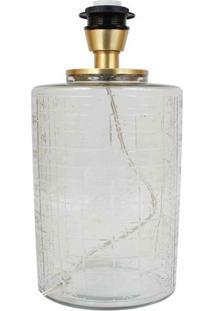Abajur- Pashmina- Elet Vidro- Transparente