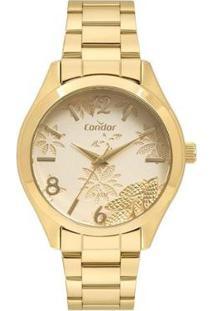 Relógio Condor Shake Feminino - Feminino-Dourado