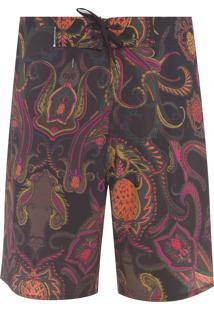 Bermuda Masculina Surf Bangalore Color Big - Preto