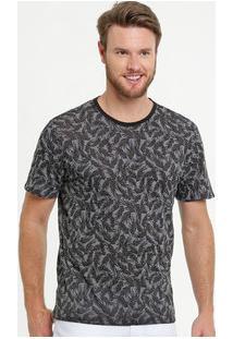 Camiseta Masculina Devorê Estampa Folhas Mr