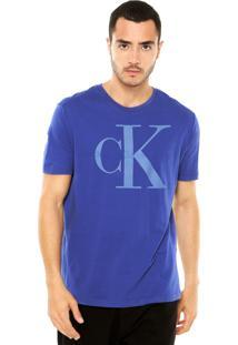 Camiseta Calvin Klein Jeans Revelo Azul