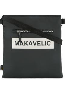 Makavelic Bolsa Tiracolo 'Ludus' Com Logo - Preto